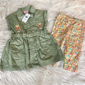 Nanette | NWT Floral Utility Outfit